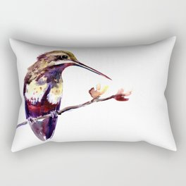 Elegant Bird, Hummingbird Rectangular Pillow