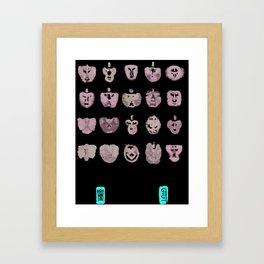Faces of Mu Framed Art Print