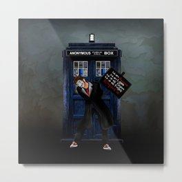 Anonymous Doctor who iPhone 4 4s 5 5c 6 7, pillow case, mugs and tshirt Metal Print