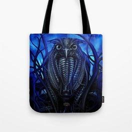 Mechanical Owl - Blue Tote Bag