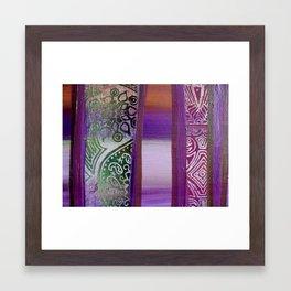 Purple Horizon Through My Window Framed Art Print