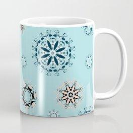 Blue Mandala, Pattern, Digital Design, Shapes Coffee Mug