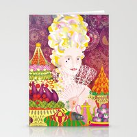 marie antoinette Stationery Cards featuring Marie-Antoinette by Caroline Krzykowiak