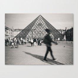 Louvre Blur Canvas Print