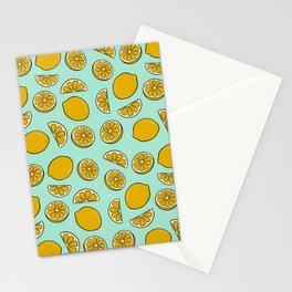 Lemon Print Stationery Cards
