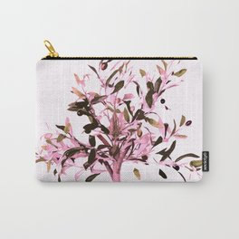Little olive tree with pink tones on a white background Carry-All Pouch