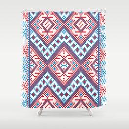 Slavik Cross stitch pattern Shower Curtain