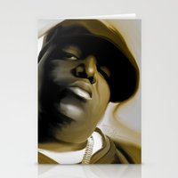 biggie smalls Stationery Cards featuring The Notorious B.I.G (Biggie Smalls) by darylrbailey