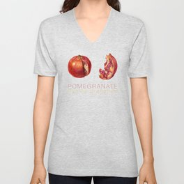 Pomegranate, Punica granatum Unisex V-Neck