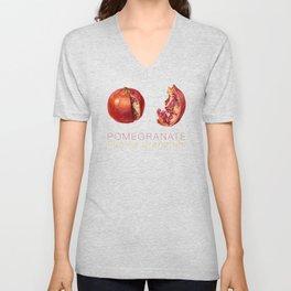 Pomegranate, Punica granatum Unisex V-Neck
