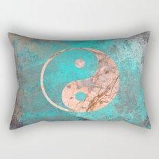 Yin Yang - Rose Turquoise Marble Rectangular Pillow