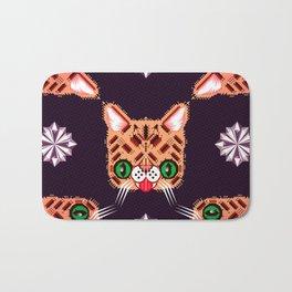 Lil Bub Geometric Pattern Bath Mat