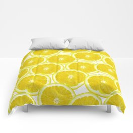 Summer Citrus Lemon Slices Comforters