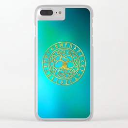 Tree of life  -Yggdrasil and  Runes alphabet Clear iPhone Case