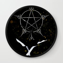 A Tarot of Ink 06 of Pentacles Wall Clock