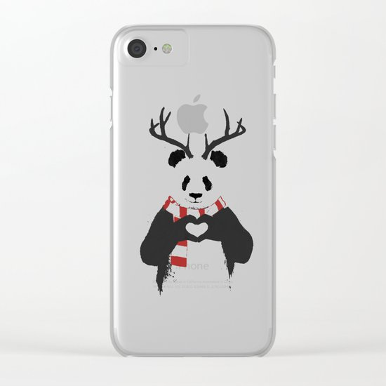 Xmas panda Clear iPhone Case