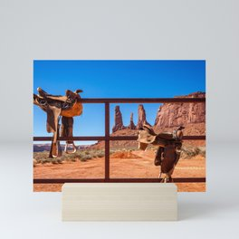 Saddle up in Wild West Mini Art Print