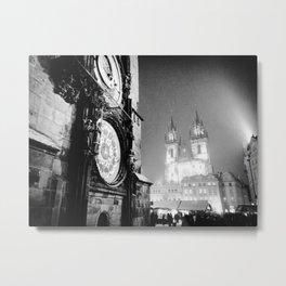 Nocturne Photograph - Prague, 4. Metal Print