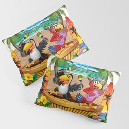 Gettin' Freaky at the Tiki Pillow Sham