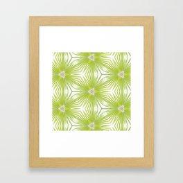 Palm Frond Play Framed Art Print