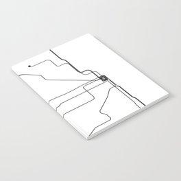 Chicago Subway White Map Notebook