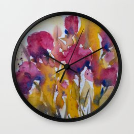 Abstract flowers (2) Wall Clock