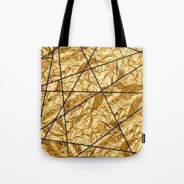 Shiny yellow gold with marble Tote Bag