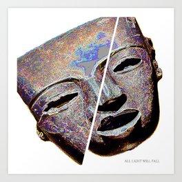 Meridian Mask Art Print
