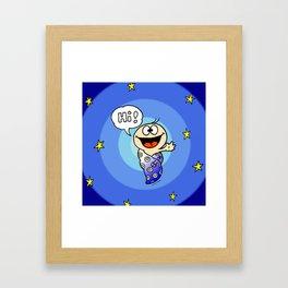"""Baby """"Hi!"""" Framed Art Print"""
