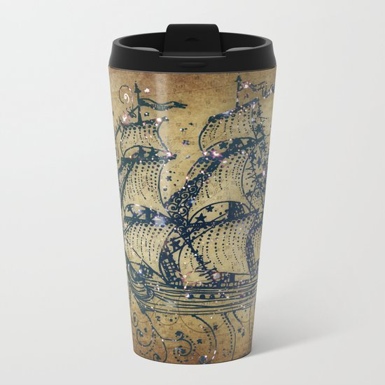 The Great Sky Ship Metal Travel Mug