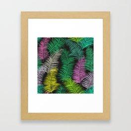 Palm Leaves Dark Framed Art Print