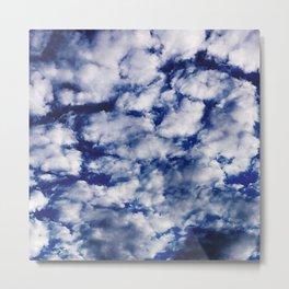 deep blue clouds Metal Print