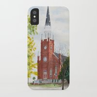 ohio iPhone & iPod Cases featuring Ohio Church by moepaints