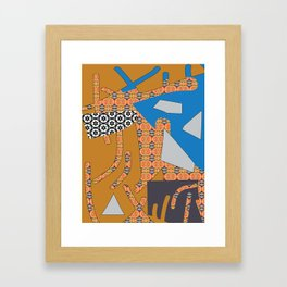 Cross Continental 3 Framed Art Print