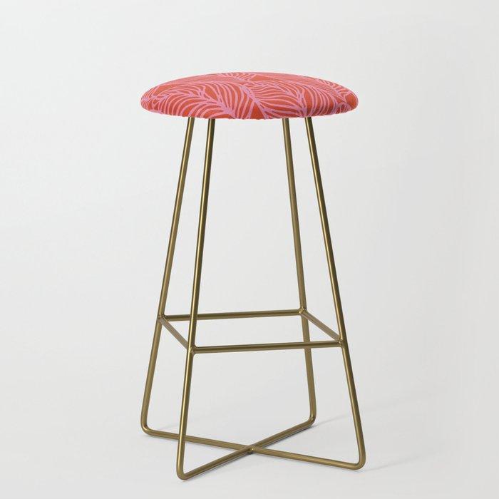 petaluma: pink leaf pattern Bar Stool