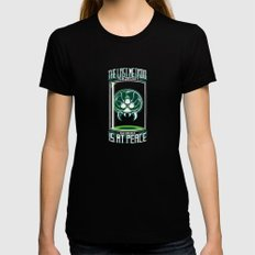 The Last Metroid Womens Fitted Tee SMALL Black