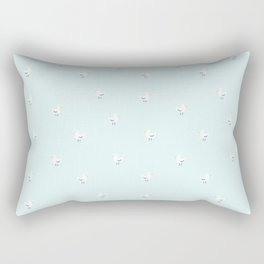 White birds in light blue Rectangular Pillow