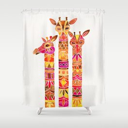 Giraffes – Fiery Palette Shower Curtain