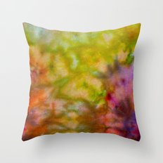 Burgundy and Olive Abstract Throw Pillow