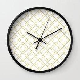 Simply Mod Diamond in Mod Yellow Wall Clock