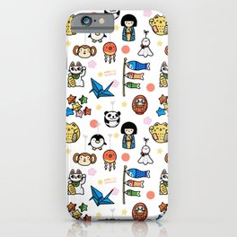 Lucky Japan Doodle iPhone Case