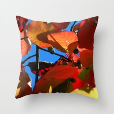 More Fall Leaves Throw Pillow