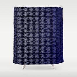Binary Blue Shower Curtain