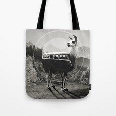 Llama B&W Tote Bag