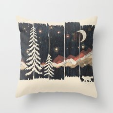 A Starry Night in the Mountains... Throw Pillow