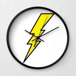 Lightning bolt Wall Clock