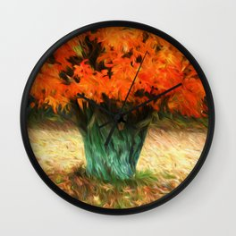 Van Gogh Autumn Wall Clock