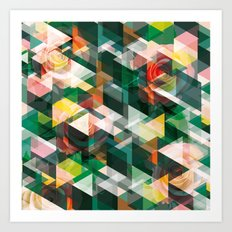 Roses and Triangles Art Print