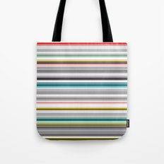 grey and colored stripes Tote Bag