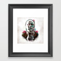 Marlon Brando under brushes effects Framed Art Print
